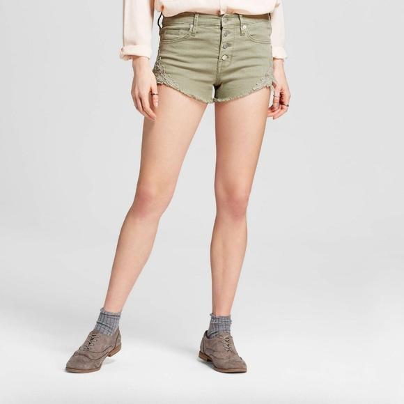 bda79a3b963 New Mossimo Sage Green High Rise Short Shorts. NWT. Mossimo Supply Co.  10   23. Size. 00. 18